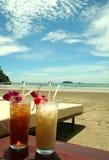 热带海滩的系列 免版税库存图片