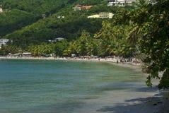 热带海滩的风景 免版税库存照片