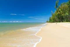 热带海滩酸值Kho Khao海岛 库存图片