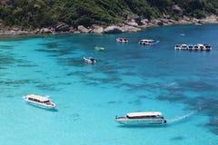 热带海滩,攀牙,泰国的南部 库存照片
