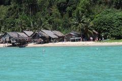 热带海滩,攀牙,泰国的南部 免版税库存图片