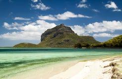 热带海滩,毛里求斯 免版税库存照片