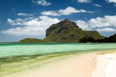 热带海滩,毛里求斯 库存照片