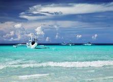 热带海滩,菲律宾 库存照片
