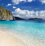 热带海滩,菲律宾 免版税库存图片