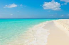 热带海滩, los roques海岛,委内瑞拉 库存图片