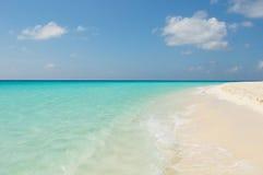 热带海滩, los roques海岛,委内瑞拉 图库摄影