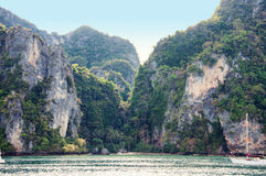 热带海视图 免版税图库摄影