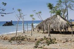 热带海滩在东帝汶 图库摄影