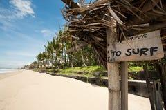 热带海滩在巴厘岛,印度尼西亚 库存图片