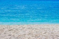热带海滩夏天抽象背景  图库摄影