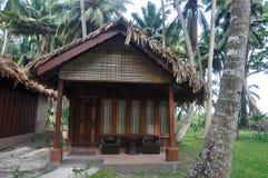 热带海滩小屋 库存照片