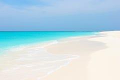 热带海滩群岛Los Roques 免版税图库摄影
