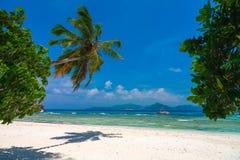 热带海滩的天堂 库存图片