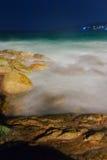 热带海滩的晚上 普吉岛 泰国 库存照片