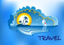 热带海滩的横向 免版税图库摄影