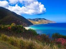 热带海滩的海岛 免版税库存照片