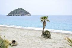 热带海滩的海岛 图库摄影