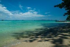 热带海滩的风景 图库摄影