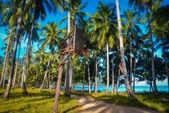 热带海滩篮球 免版税库存照片