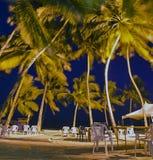 热带海滩露台 免版税库存图片