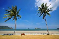 热带海滩风景 库存照片