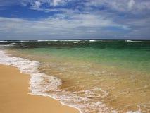 热带海滩,夏威夷 免版税库存照片