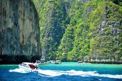 热带海滩,玛雅人海湾 免版税库存照片