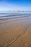 热带海滩, longtail小船,安达曼海,泰国 库存图片