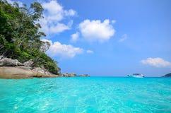 热带海滩, Similan海岛泰国 免版税库存照片