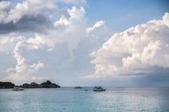 热带海滩, Similan海岛,安达曼海,泰国 免版税图库摄影