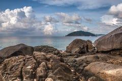 热带海滩, Similan海岛,安达曼海,泰国 库存照片