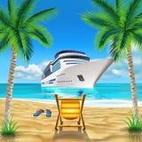 热带海滩 免版税库存图片