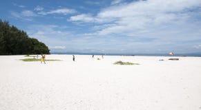 热带海滩Paradaise海岛竹海岛,普吉岛泰国 免版税库存照片