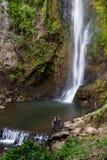 热带瀑布在哥斯达黎加 库存照片