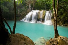 热带瀑布 免版税库存图片