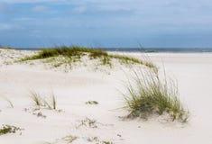 热带白色沙子海滩佛罗里达,阿拉巴马墨西哥湾海岸 库存图片