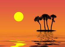 热带的例证 免版税库存照片