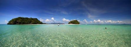 热带的全景 免版税库存图片