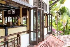 热带的咖啡馆 库存照片
