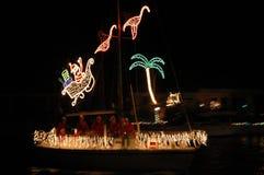 热带的圣诞灯 免版税库存图片