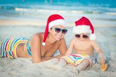 热带的圣诞节 免版税库存图片