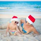 热带的圣诞节 免版税库存照片