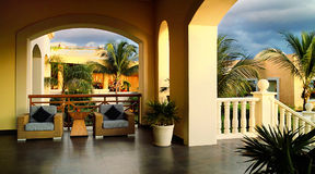 热带的大阳台 库存图片