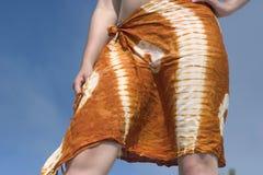 热带的女孩 免版税库存照片