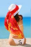 热带的女孩 免版税图库摄影
