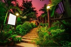 热带的平房 免版税库存图片