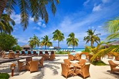 热带的旅馆 免版税库存图片