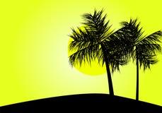 热带的日落 皇族释放例证