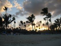 热带的日落 库存图片